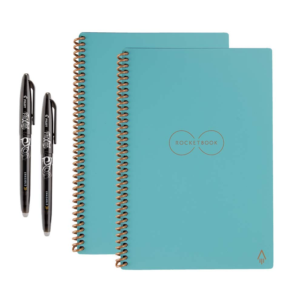 Rocketbook Back to School Bundle - 2 Everlast Executive (1 Lined & 1 Dot Grid) in Neptune Teal
