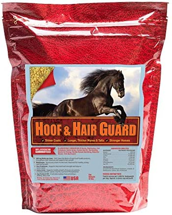 Horse Guard HOOF & HAIR GUARD EQUINE HOOF SUPPLEMENT AND EQUINE COAT SUPPLEMENT WITH AMINO ACIDS, BIOTIN, METHIONINE & SOY OIL