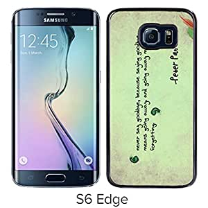 Unique And Lovely Designed Case For Samsung Galaxy S6 Edge With peter pan Black Phone Case