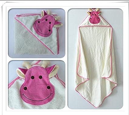 Toalla bebé animal modelado albornoz con capucha Kids – Albornoz Toallas de Baño Cow