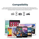 Cavo-Micro-USB-Rampow-Carica-Rapida-24A-con-Rivestimento-a-Rete-Caricatore-USB-Micro-USB-Compatibile-per-Android-Samsung-S7S6J5-Nexus-HuaweiKindle-Grigio-Siderale-2M65ft