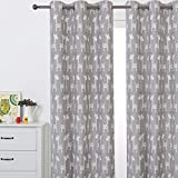 """Sherwood GIRAFFE Eyelet Curtain Blackout Grommet Coated Window Panel Drapes for Kids Girl Boy Bedroom, One Panel, 70"""" x 63"""" (Taupe Taupe)"""