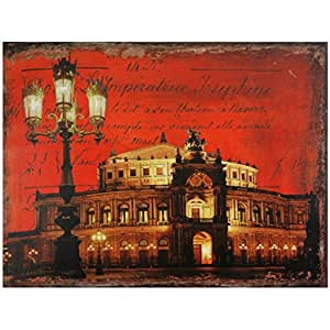 Oriental Furniture German Opera House Canvas Wall Art