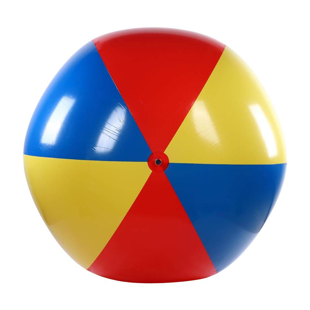 Alomejor Pool Party Balls Rainbow Beach Balls Jumbo Colorful Beach Ball 59 inches for Summer Parties by Alomejor