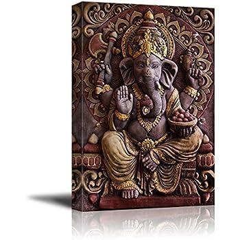 wall26 - Sculpture of Gannesa Hindu God - Canvas Art Wall Decor - 16