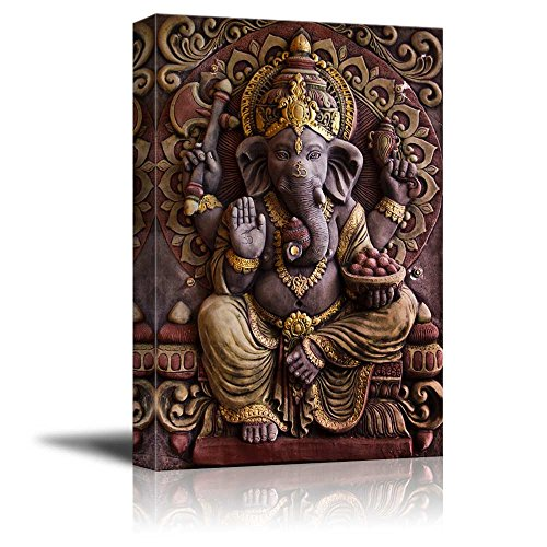 Sculpture of Gannesa Hindu God Wall Decor