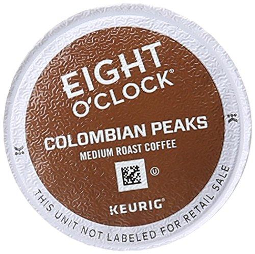 12 K-Cup Eight O'Clock Keurig Coffee Colombian Peaks Medi...