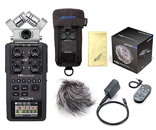 【愛曲クロス付】【アクセサリーパック/APH-6+専用ケース/PCH-6付】ZOOM/ズーム H6 多目的プロフェッショナルハンディレコーダー   B01DQQD3F8