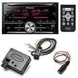 Pioneer FH-X731BT Double DIN Bluetooth In-Dash CD/AM/FM/MP3 Car Stereo Receiver + Axxess ASWC-1 Universal Steering Wheel Control Interface