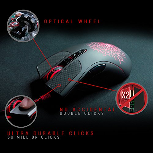 Bloody AL90 Laser Gaming Mouse with Light Strike (LK) Optical Switch & Scroll for Fastest Response - 8 Programmable Buttons and Advanced Macros – 8200 DPI by BLOODY (Image #3)
