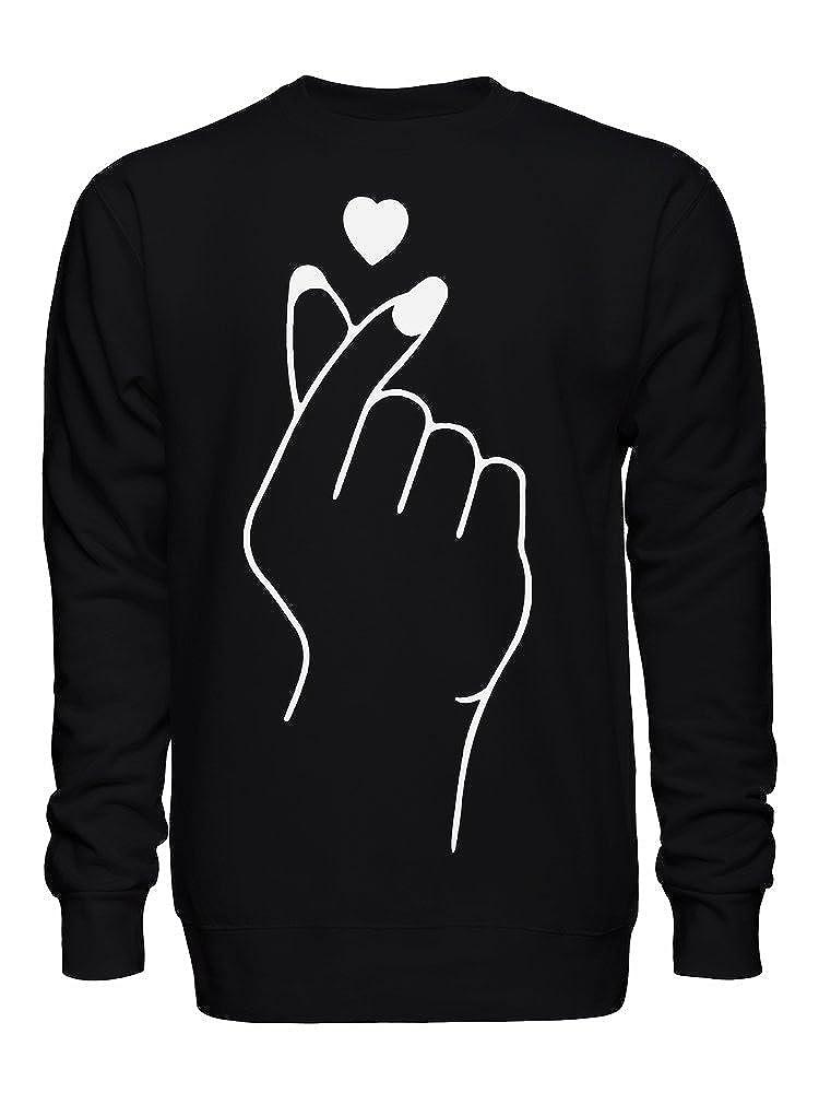 Finger Click Heart Magic Love Artwork Unisex Crew Neck Sweatshirt