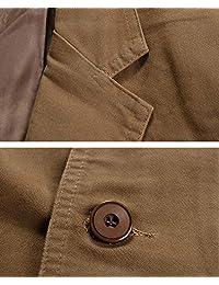 chouyatou - Chaqueta deportiva de algodón ligero con 2 botones para hombre