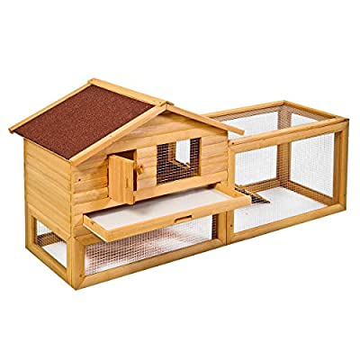 "HPD 62"" Backyard Wooden Rabbit Hutch Chicken Coop House Bunny Hen Pet Animal Run"