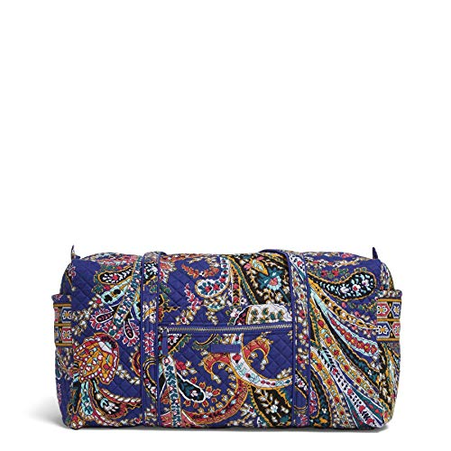 Vera Bradley Iconic Large Travel Duffel, Signature Cotton, Romantic Paisley, romantic paisley, One - Duffle Cotton