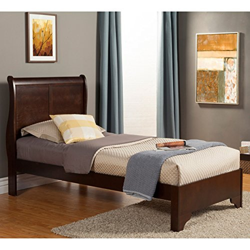 - Alpine Furniture West Haven Sleigh Bed, Twin Size