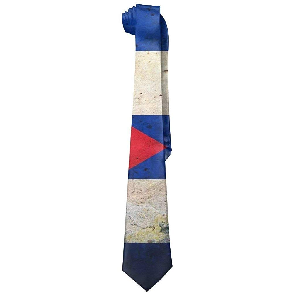 Corbata con bandera cubana vintage para hombre Corbata de seda ...