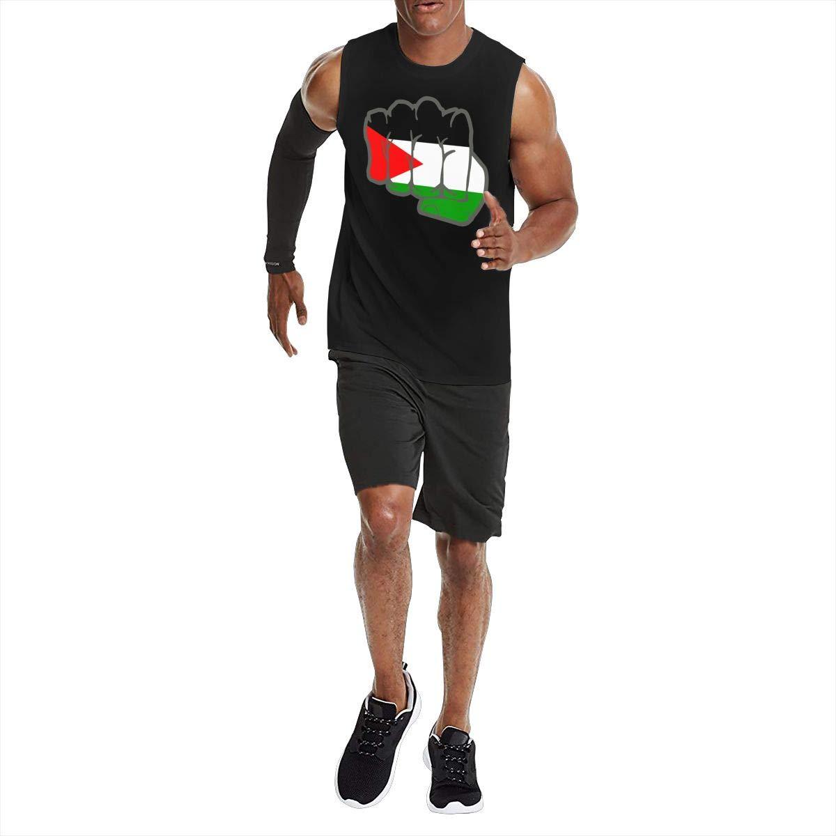 NMG-05 Free Palestine Fight Revolution Mens Soft Lightweight Jersey Tank Underwaist