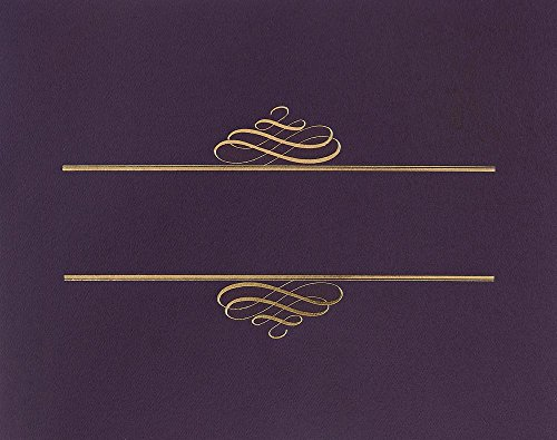 Great Papers! Plum Value Certificate Cover, 5 Count, 12'x9.375' (903106)
