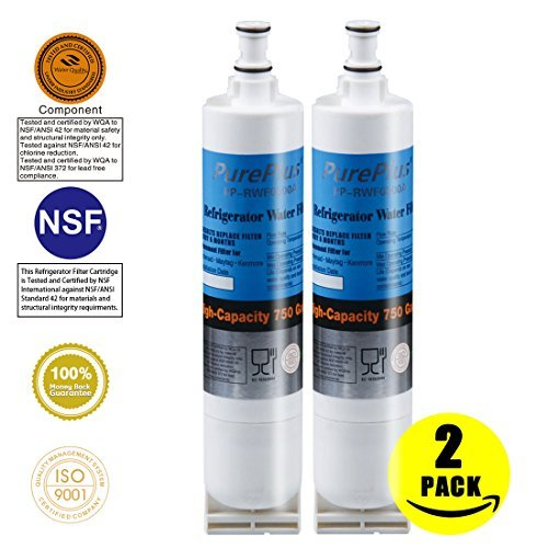 PurePlus 4396508 Water Filter Replacement for Whirlpool 4396508,4396510,Kenmore 46-9010,469010,EveryDrop Filter 5,EDR5RXD1,Kitchenaid 4396547,4396548(2 PACK)