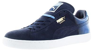 online store a4e12 967ef Amazon.com | PUMA Suede Classic + Blur Men US 13 Blue ...