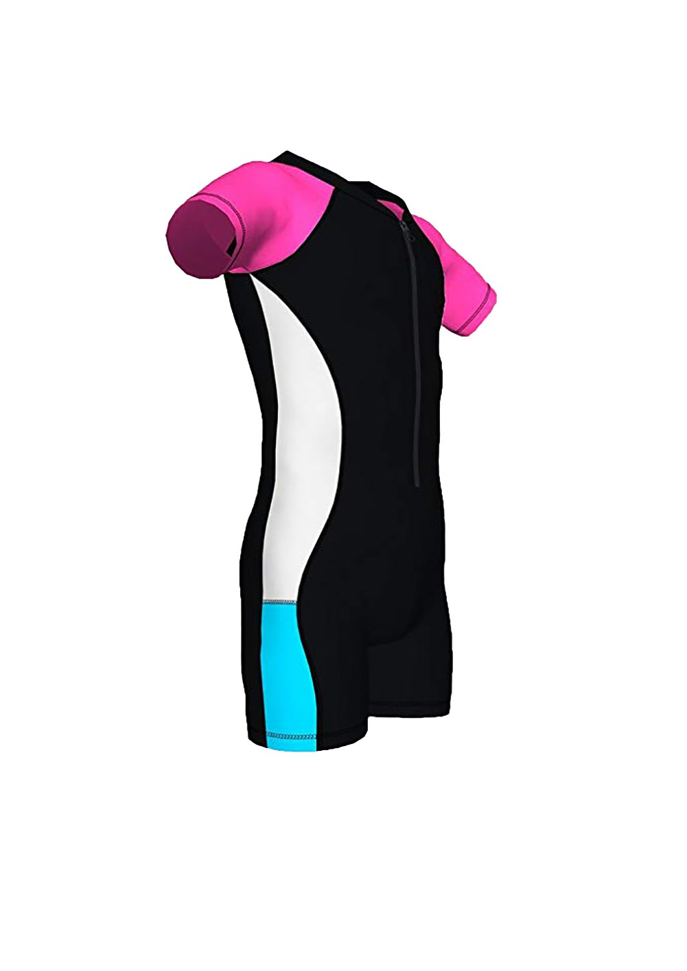 basadina Girls Surf Suit - Shorty One-Piece Wetsuit,UV 50+ Sun Protection,Swimsuit for Girls 4 to 12 Years Old RYG180403
