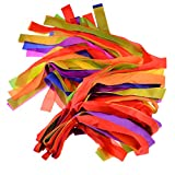 Rhythm Ribbon Dance, WOLFBUSH 12Pcs Hand Held Dance Rainbow Ribbons Set for Kids Children - Color Random