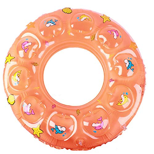 Zxb-shop Crystal Swim Ring to Increase Thick Double-Layer Floating Ring Inflatable Underarm Ring (Color : Orange, Size : XL)