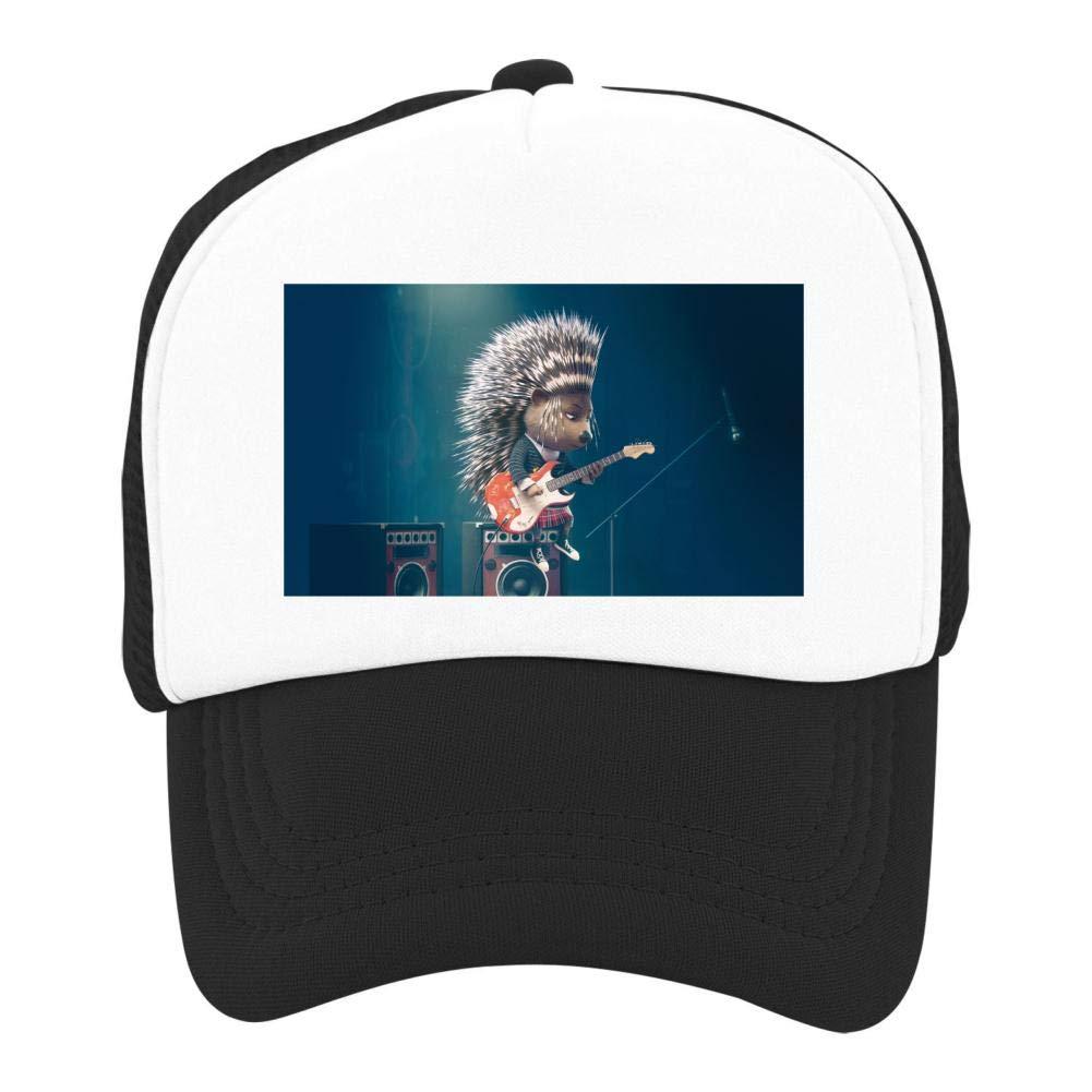 EThomasine Kids Girls Boys Mesh Cap Trucker Hats Hedgehog Sing Adjustable Hat Black by EThomasine