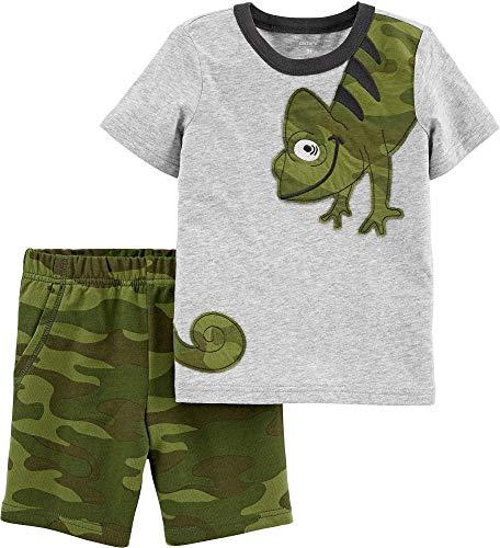 Carters Baby Boys Camo Chameleon Shorts Set 18 Months Grey/Green
