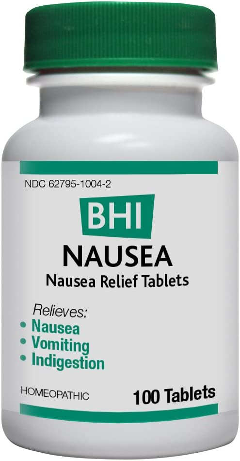 BHI Nausea Relief Natural, Safe Homeopathic Relief - 100 Tablets: Health & Personal Care