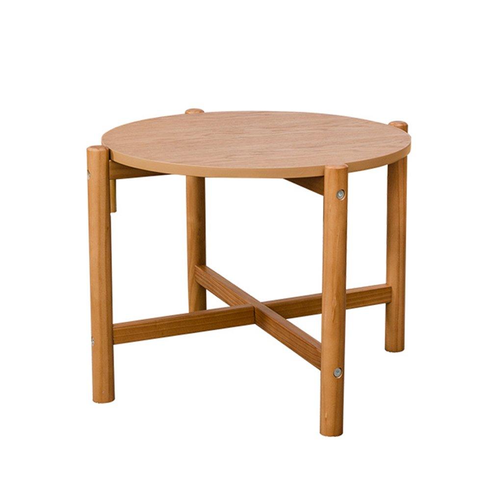 CSQ クリエイティブコーヒーテーブル、家庭用ソリッドウッドティーテーブルソファテーブル小さなコーヒーテーブルラウンドテーブル装飾テーブルカジュアル読書テーブル低テーブル (サイズ さいず : 66.4*66.4*60CM) B07F27VJML 66.4*66.4*60CM 66.4*66.4*60CM
