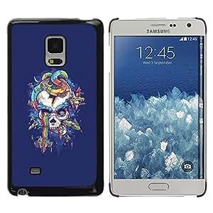 """For Samsung Galaxy Mega 5.8 Case , Arco iris púrpura del cráneo de la serpiente azul"""" - Diseño Patrón Teléfono Caso Cubierta Case Bumper Duro Protección Case Cover Funda"""