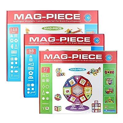 Mag-Piece Educational Magnetic Construction Building Set Toys, Multiple Piece Set Available | Computers