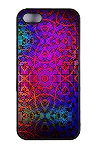 Gerneric Pattern Color Colorful Dark Cute Cover Skin TPU Rubber Vintage Hipster Fashion Design Art Print Cell Phone Case Cellphone Accessories For iPhone 5,5S(Black and White)