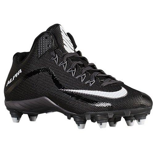 Nike Alpha Pro 2 3/4 D Mens Football Cleat Black/Metallic Dark Grey/White 11 D(M) US