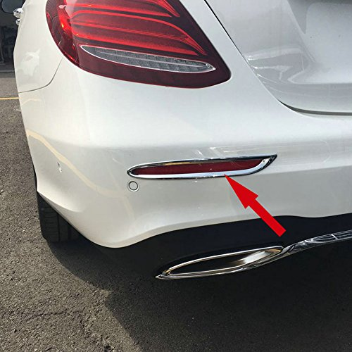 Fit for Mercedes-Benz New E-Class W213 E300 Sedan Sport 2017 2018 2019 Chrome Rear Fog Light Lamp Cover Trim