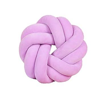 Amazon.com: Almohada de nudo trenzado, moderna, decorativa ...