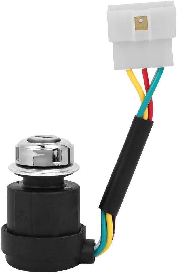 5 Wires 2 Keys Ignition Key Switch for 178F//186F Air Cooled Diesel Engine Tiller Start Switch