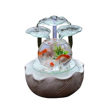 LSHUAIDJ Acuario Suerte Feng Shui Gire Fuente de Agua Adornos Sala de Transferencia Bola humidificador de Oficina: Amazon.es: Hogar