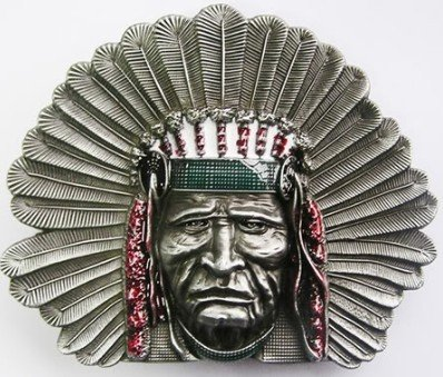 Wolverine Belt Buckle (Pansy Beauty New Indian Chief Head Belt Buckle Wt003)