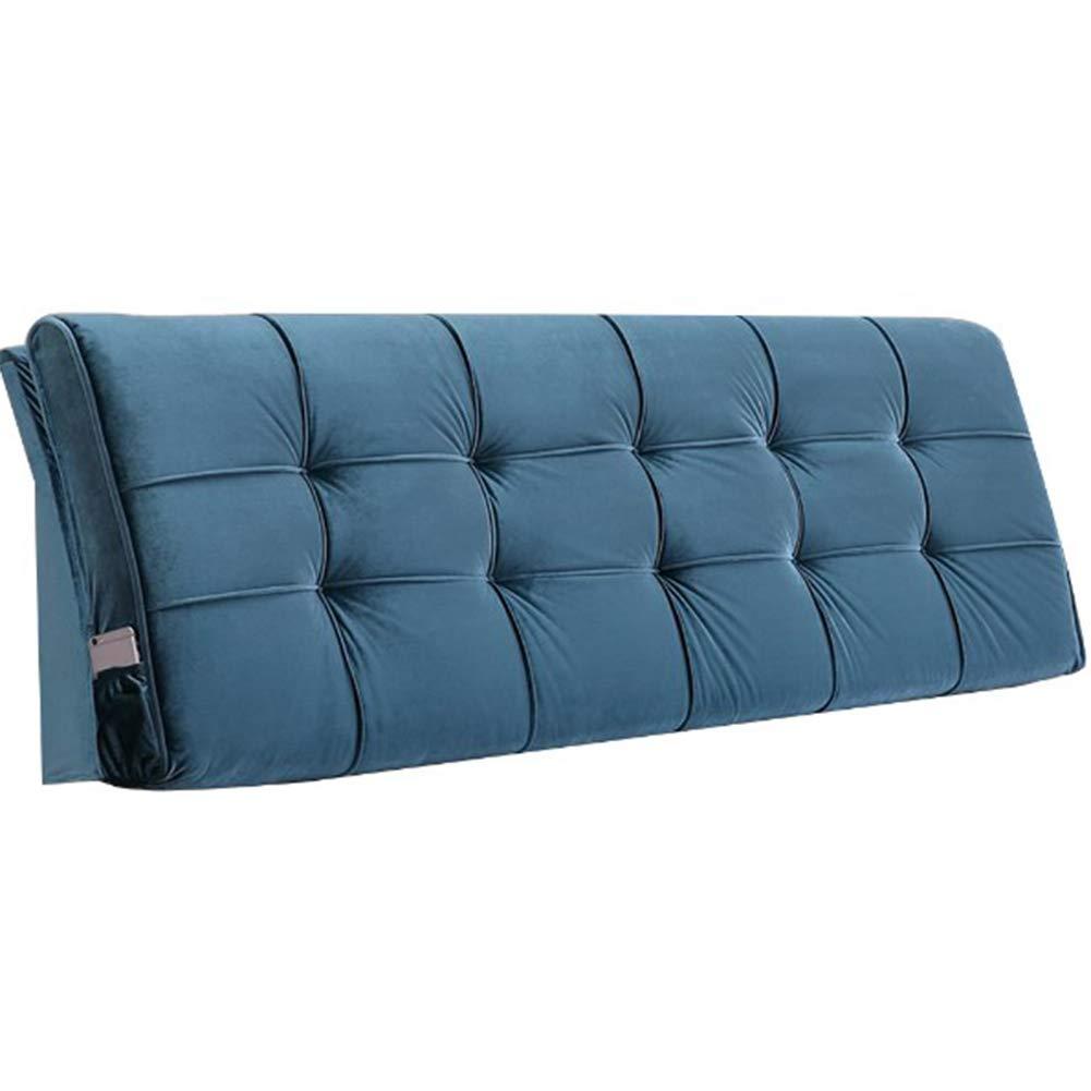ベッドサイドクッション 読書枕 寝室 単色 ヘッドボード 腰用支持クッション 大きいあと振れ止め,green,180*58*10cm B07Q13M45T green 180*58*10cm