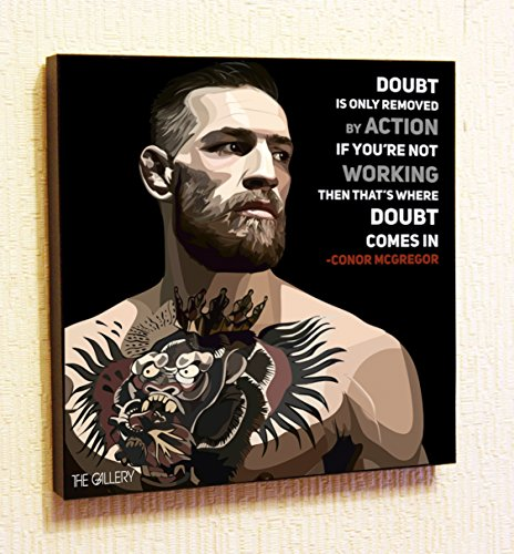 Conor McGregor UFC MMA Ireland Motivational Quotes Wall Decals Pop Art Gifts Portrait Framed Famous Paintings on Acrylic Canvas Poster Prints Artwork (10x10 (25.4cm x 25.4cm))