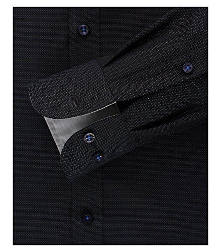 Casamoda Camicia Classiche - Classico - Uomo Multicolore Dunkelblau Schwarz Silbergrau 45