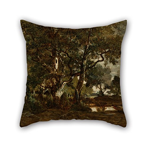 [Uloveme Oil Painting Théodore Rousseau (French - Forest Of Fontainebleau, Cluster Of Tall Trees Overlooking The Plain Of Clair-Bois At The Edge Of Ba Cushion Covers 18 X 18 Inches / 45 By 45 Cm] (The Pope Costume At The White House)
