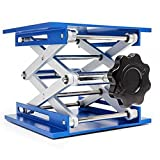 Lift Table Aluminium Oxide Lab Stand Lifter Scientific Scissor Lifting Jack Platform (6''x6'')