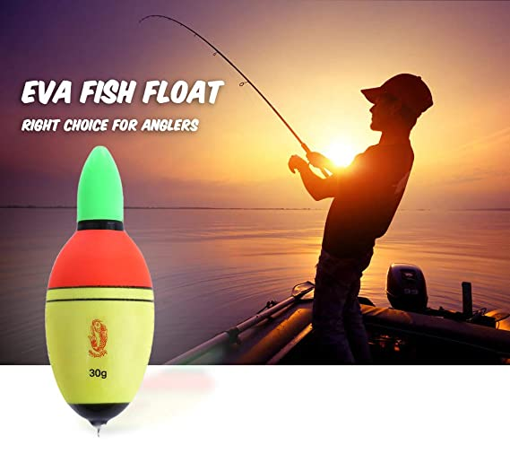 Amazon.com : Zizule EVA Fish Float Yellow LED Light Material ...