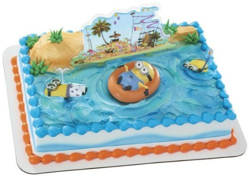 Despicable Me 2 Beach Cake Kit Decoration Topper featuring -