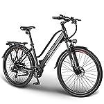 """ESKUTE E-Bike Bici Elettrica 28"""" da Città Citybike Olandese Padalata Assisitita per Adulto Unisex, Batteria Rimovibile al Litio 36V10Ah, 250W Motore Posteriore, Compagno Affidabile per Vita Quotidiana"""