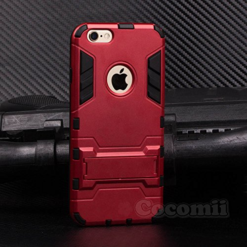 Cocomii Iron Man Armor iPhone 6S/6 Case New [Heavy Duty] Premium Tactical Grip Kickstand Shockproof Hard Bumper [Military Defender] Full Body Dual Layer Rugged Cover for Apple iPhone 6S/6 (I.Red) (I Phone 6 Case Iron Man)