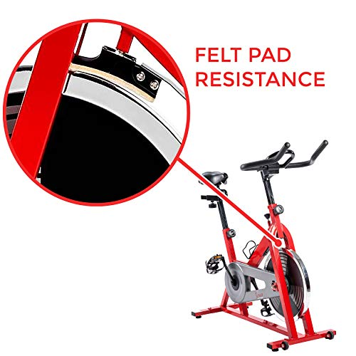 Sunny Health & Fitness SF-B1001 Indoor Cycling Bike, Red by Sunny Health & Fitness (Image #7)
